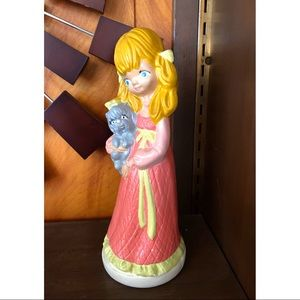 Vtg-Girl With Puppy Statue